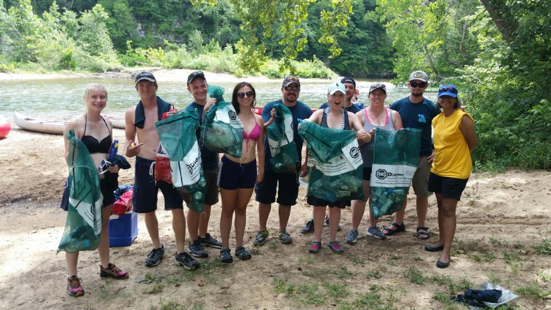 CLC Stream Team clean up on the Current River